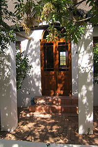 View of Karoo Cottage guesthouse door into garden